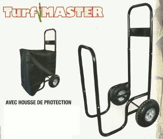 Porte buches chariot pour bois 150kg solide roues gonflables avec bache de - Chariot porte buches ...